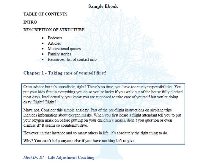 Writing 4 Business e-book content sample
