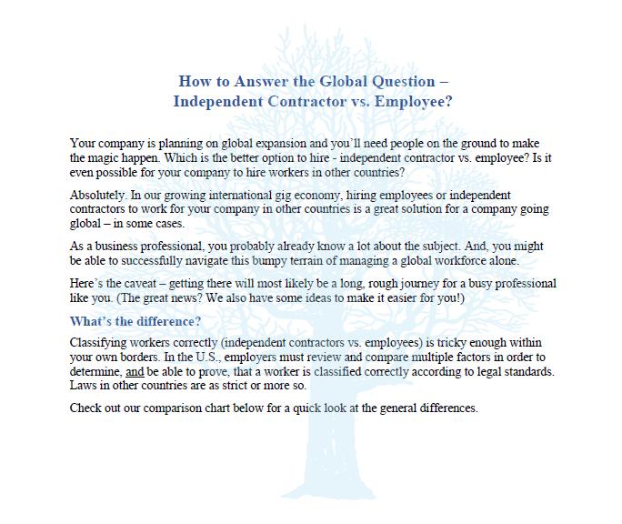 Writing 4 Business HR blog sample
